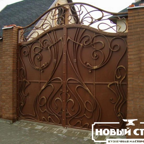 Кованые ворота в стиле модерн